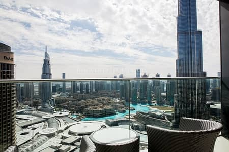 3 Bedroom Apartment for Sale in Downtown Dubai, Dubai - Full Burj and Fountain view | High Floor | 3Bed