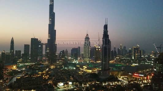2 Bedroom Apartment for Rent in Downtown Dubai, Dubai - High Floor 2Bed with Full Burj Khalifa View