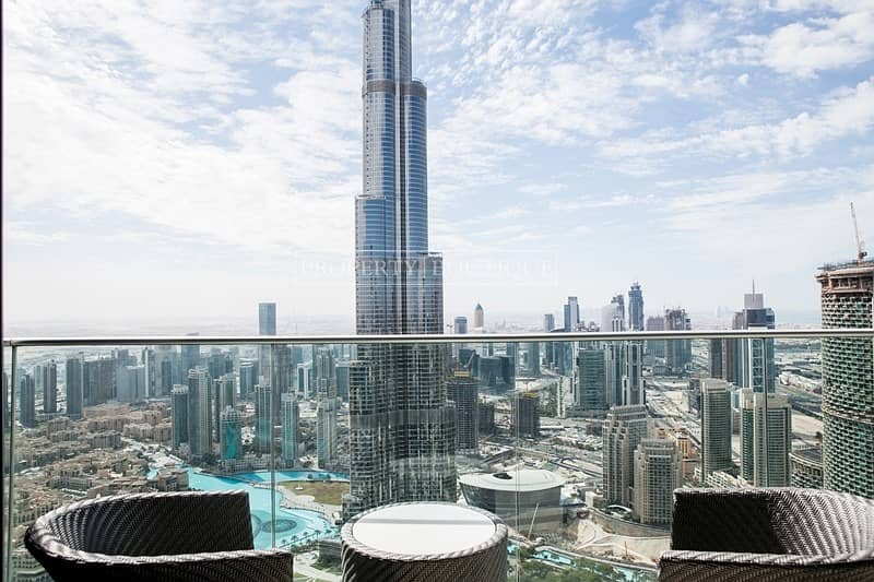 Full Burj and Fountain View | 2 Bed | High Floor