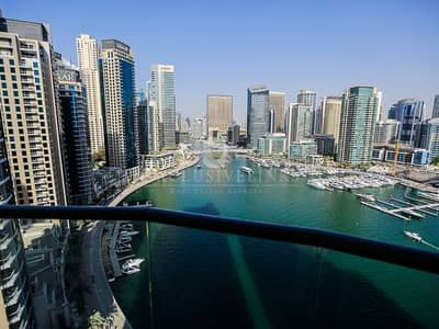 3 Bedroom Flat for Rent in Dubai Marina, Dubai - High Floor 3 bed furnished stunning view