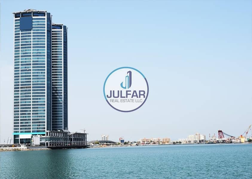 1 Office With Amazing Sea View for SALE in Julphar Tower