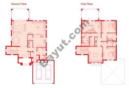 Floors (Ground,1st) 3 Bedroom Type 2