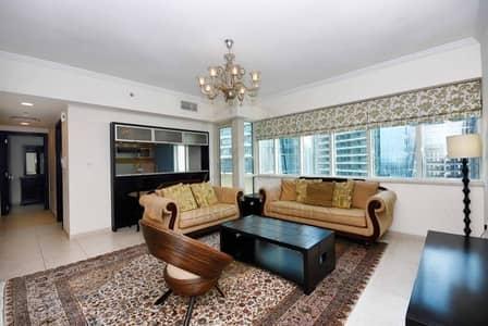 2 Bedroom Apartment for Rent in Dubai Marina, Dubai - High Floor 2 BR Plus Study w Marina View