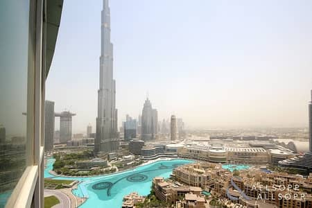 2 Bedroom Flat for Sale in Downtown Dubai, Dubai - Two Bed | Burj And Fountain Views | Study