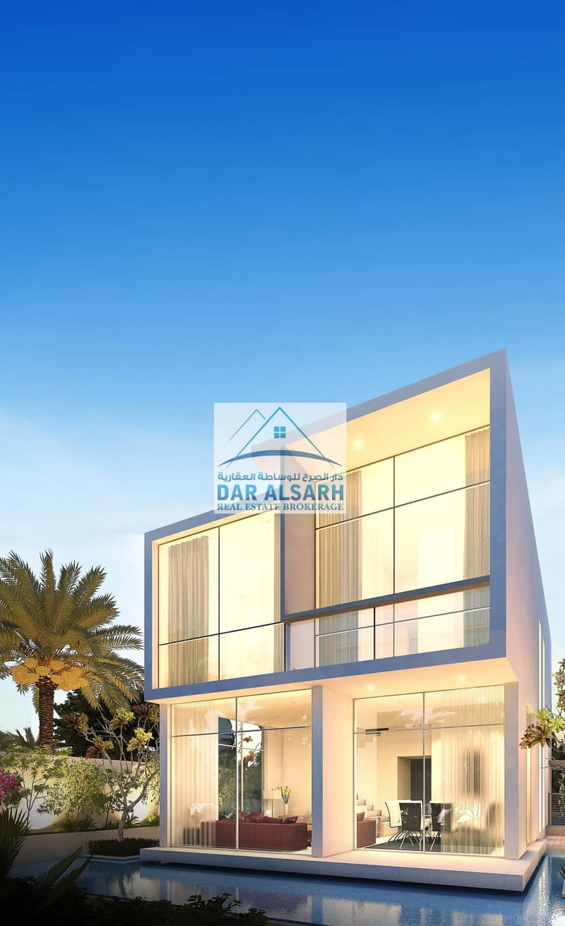 Villas for sale in the Arab cities with payment plans after receiving