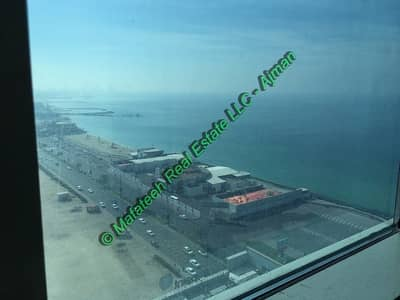 2 Bedroom Apartment for Rent in Corniche Ajman, Ajman - Corniche Tower - 2BHK  Parking - Amazing Sea View - 1924 Sqft - 54,000/=