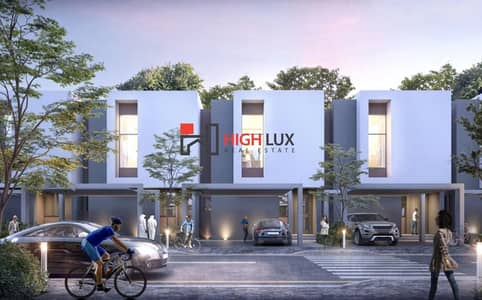 2 Bedroom Townhouse for Sale in Aljada, Sharjah - Sarab Marvelous Town Houses by Arada Development in the heart of New Sharjah