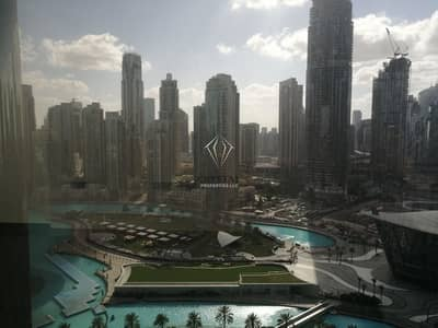 2 Bedroom Apartment for Rent in Downtown Dubai, Dubai - 2BR with Partial fountain view in  Burj Khalifa
