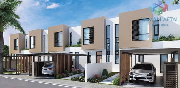 3 Bedroom Townhouse for Sale in Al Tai, Sharjah - Classy 3-BR Townhouse in Nasma Residences with Road View