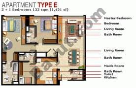 2 Bedroom Type E
