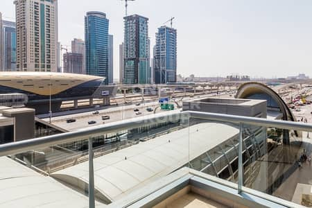 1 Bedroom Flat for Rent in Dubai Marina, Dubai - Furnished 1BR +balcony in front of metro