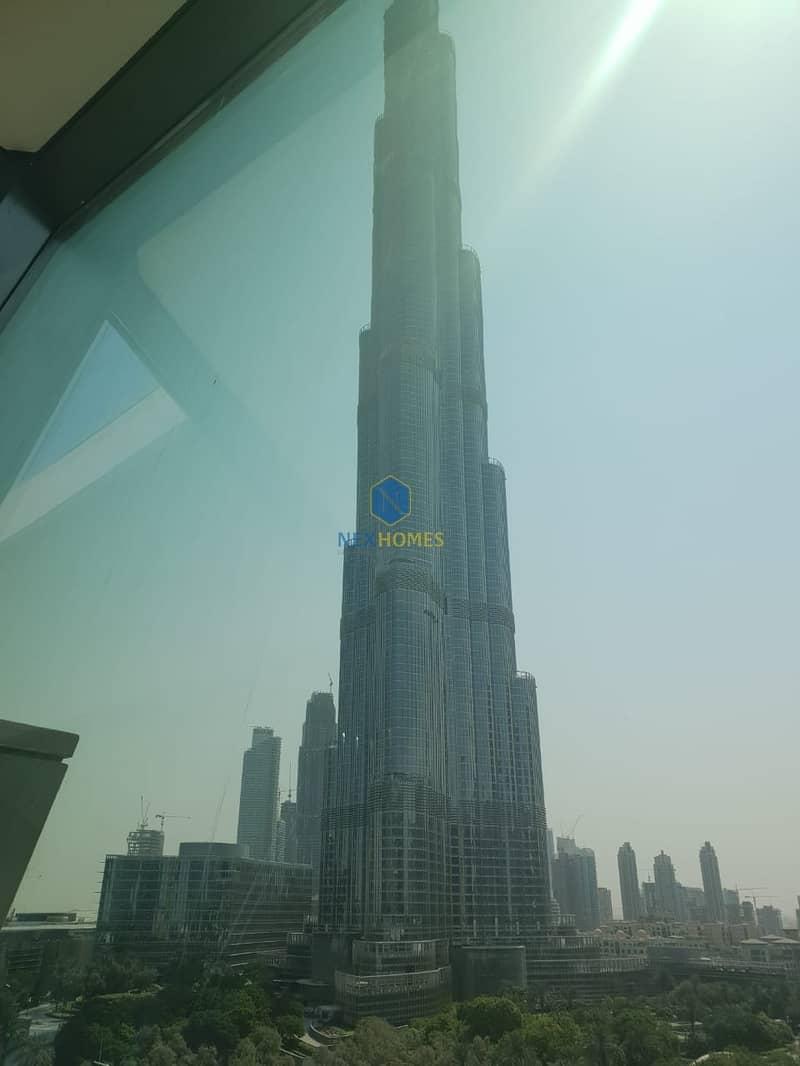 2 Full Fountain And Burj Khalifa View | Large 3BR + Maid