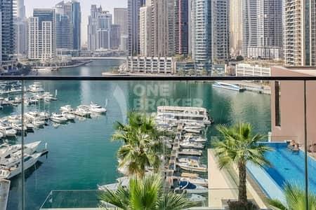 2 Bedroom Apartment for Rent in Dubai Marina, Dubai - FULL MARINA VIEW|Corner Unit | Best Unit