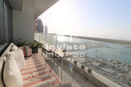 3 Bedroom Flat for Rent in Dubai Marina, Dubai - Full Sea View | Large 3 Bed with Balcony | Dubai Marina
