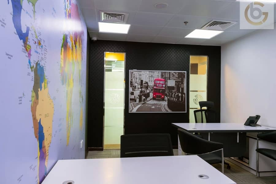 Shared Executive Furnished Office Space with DEWA FREE