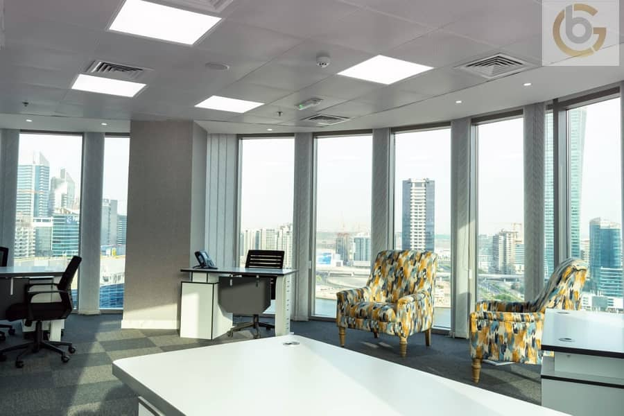 Luxurious office in business bay with DEWA Free!! No Commission.