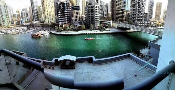 2 Bedroom Apartment for Rent in Dubai Marina, Dubai - VACANT & READY 2BR APT WITH FULL MARINA VIEW