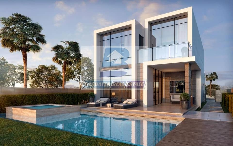 Cheapest Price to Own Your Villa with Gulf view Pay Only 100 K with 4 years payment Plan