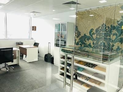 مکتب  للايجار في البرشاء، دبي - fully serviced furnished sharing office in business center  al Barsha