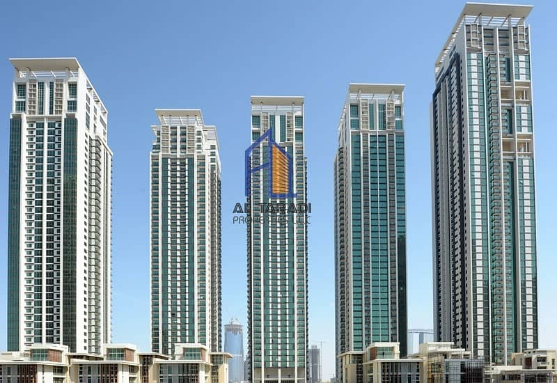 Vacant 1BR Apartment with Balcony 3 payments  in Al Maha Tower