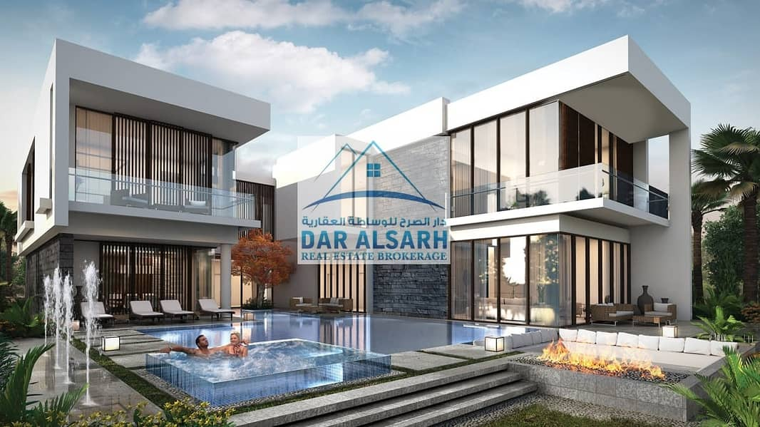 Owned villa overlooking the golf in the largest residential complex in Dubai