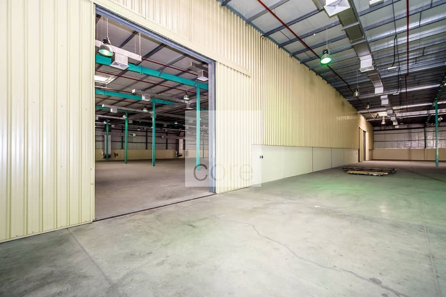 2 Huge Warehouse with Open Yard | Fitted