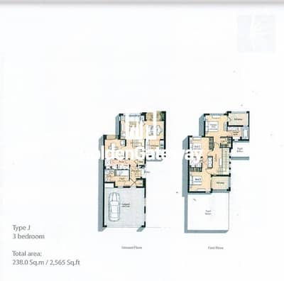 Type J (End Unit) - 3 B/R + M + S | Near to Park