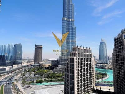 2 Bedroom Flat for Rent in Downtown Dubai, Dubai - Overlooking the Burj Khalifa 2 Beds Apt