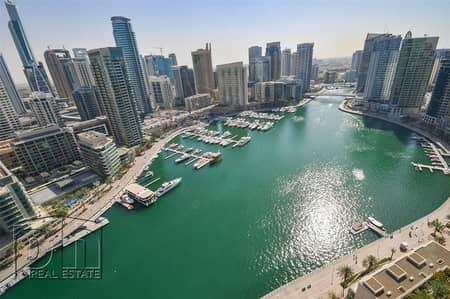 2 Bedroom Flat for Rent in Dubai Marina, Dubai - Incredible Full Marina View - 2 Bedroom