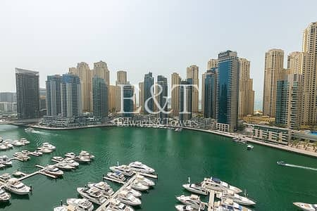1 Bedroom Flat for Rent in Dubai Marina, Dubai - Marina view | High floor |  Chiller free