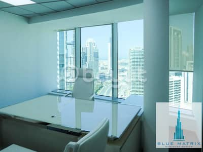 Office for Rent in Business Bay, Dubai - FULLY FURNISHED BRAND NEW OFFICE IN BLUE MATRIX BUSINESS CENTER