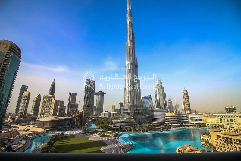 Breathtaking Views of Burj and Fountains 2 Bedroom For Rent