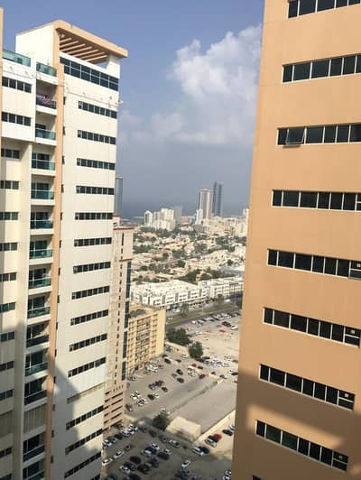 2 Bedroom Flat for Rent in Al Sawan, Ajman - 2 bhk partial sea view   with free parking in Ajman one tower
