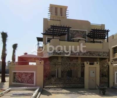 5 Bedroom Villa for Sale in Al Mowaihat, Ajman - Luxury villa for sale close to Sheikh Zayed Road Bin Zayedmalk free life