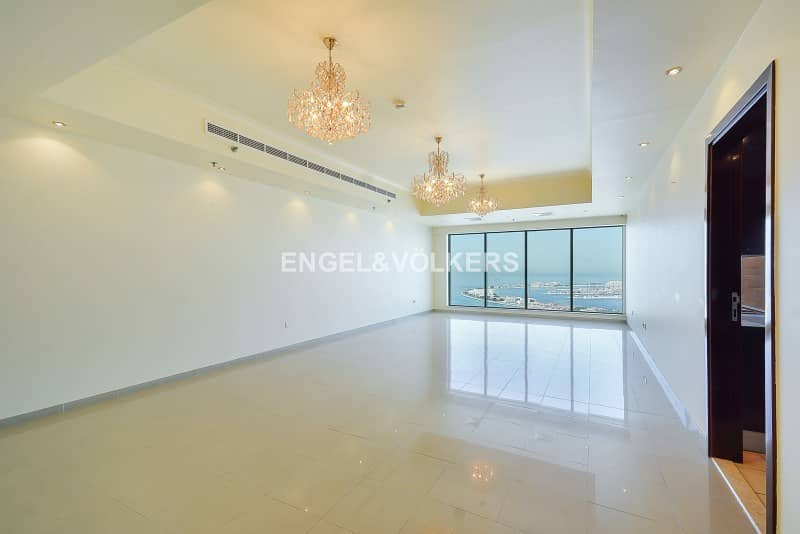 2 Top Floor|4BR+Maid|Atlantis & Palm Views
