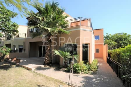 3 Bedroom Villa for Rent in Green Community, Dubai - Prime Location - Corner Townhouse - 3BR + M