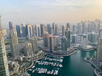 3 Bedroom Apartment for Rent in Dubai Marina, Dubai - Fendi style|Dual terrace|High ceilinged|