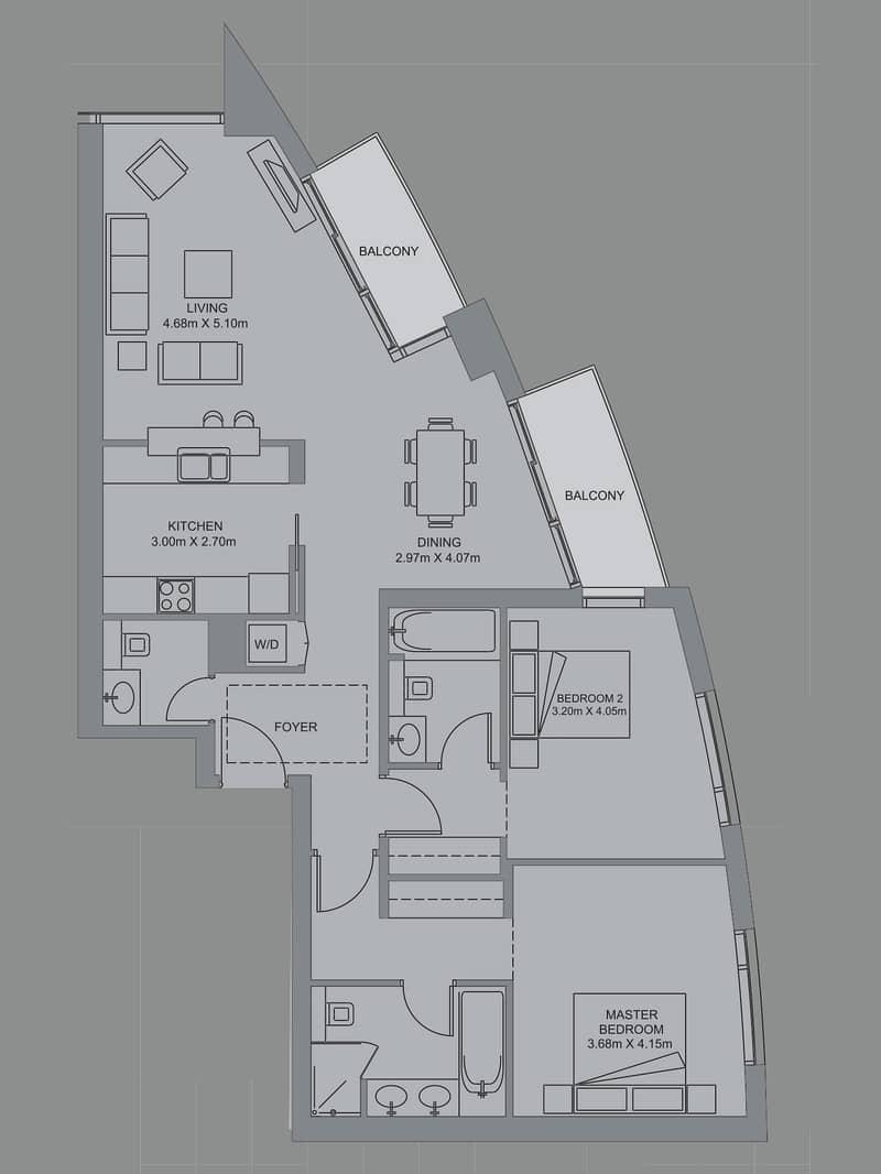 10 2 Bedroom Apartment | Burj Khalifa views