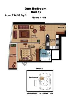 1 Bedroom Unit 10 Floors (1-19)