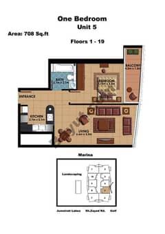 1 Bedroom Unit 5 Floors (1-19)