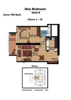1 Bedroom Unit 9 Floors (1-19)