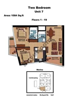 2 Bedroom Unit 7 Floors (1-19)