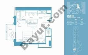 Studio Apt 03 (15th-37th) Floor