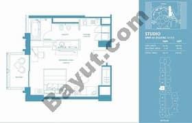 Studio Apt 07 (15th-37th) Floor