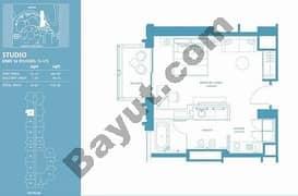 Studio Apt 10 (15th-37th) Floor