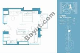 Studio Apt 12 (15th-37th) Floor