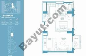 1 Bed Apt 13 (15th-37th) Floor