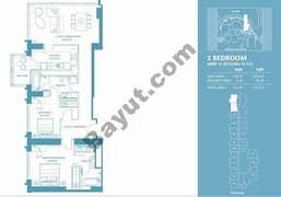 2 Bed Apt 11 (15th-37th) Floor