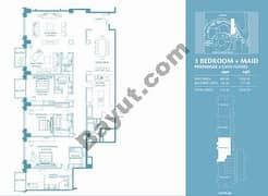 3 Bed Penthouse Apt 2 Plus Maid (38th) Floor