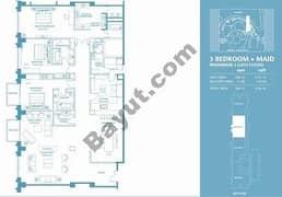 3 Bed Penthouse Apt 3 Plus Maid (38th) Floor